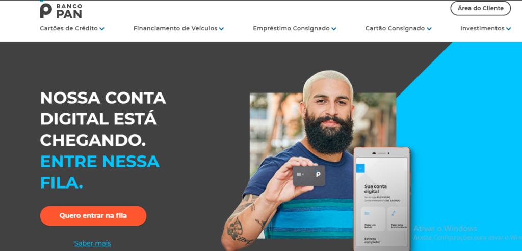 Banco PAN: confira a lista completa de serviços online do banco (Reprodução/Site Banco Pan)