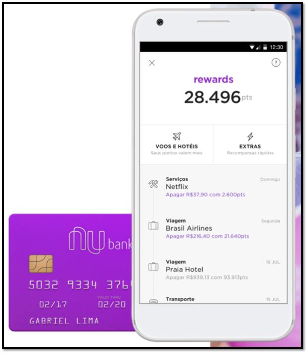 Nubank Rewards faz troca de pontos por viagens e compras