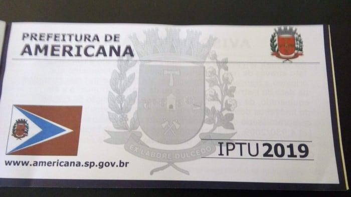 IPTU 2020 de Americana: prefeitura antecipa entrega dos boletos