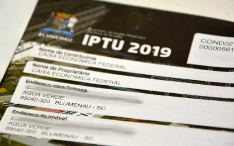 IPTU de Blumenau em 2020 sofrerá reajuste