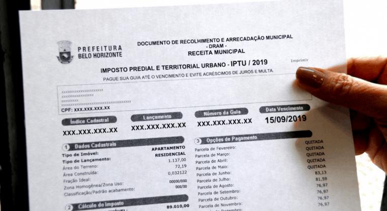 IPTU 2020 de Belo Horizonte: calendário começa no próximo dia 20