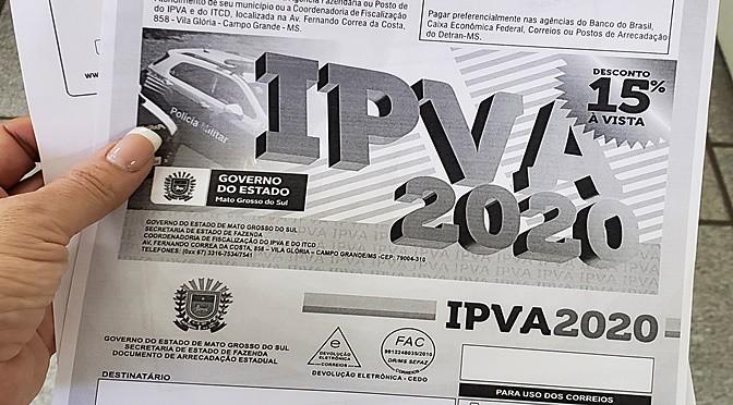 IPVA MS 2020: ainda dá tempo de regularizar o pagamento da 1° parcela (Reprodução/Google Imagens)