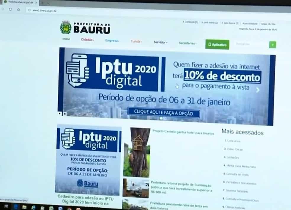 IPTU Bauru 2020: prefeitura aumenta valor e moradores reagem