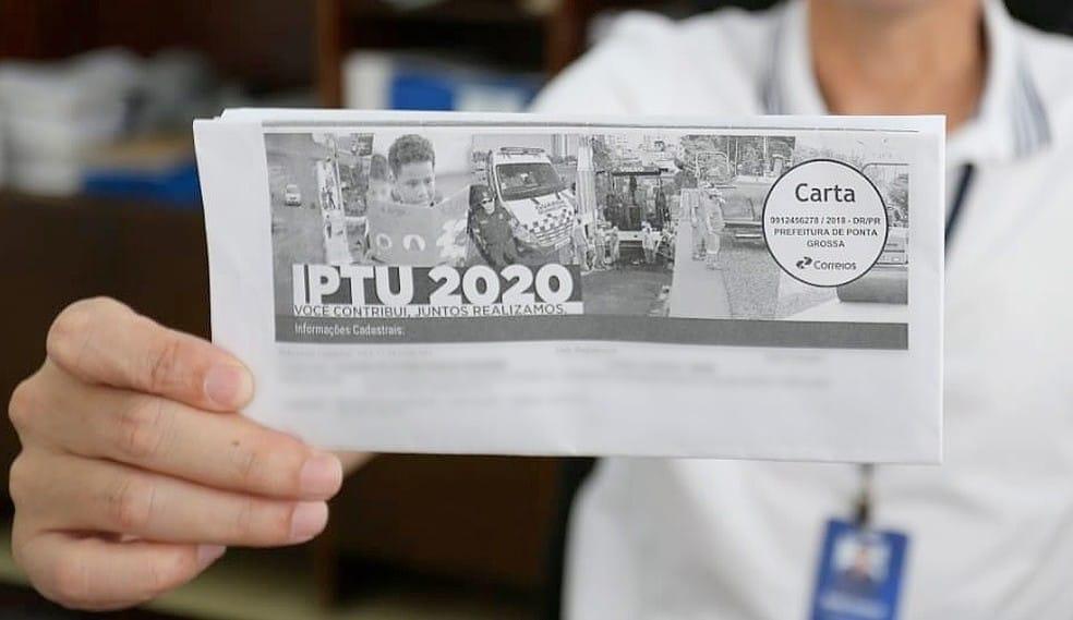 IPTU Ponta Grossa 2020 adia pagamento à vista com nova data