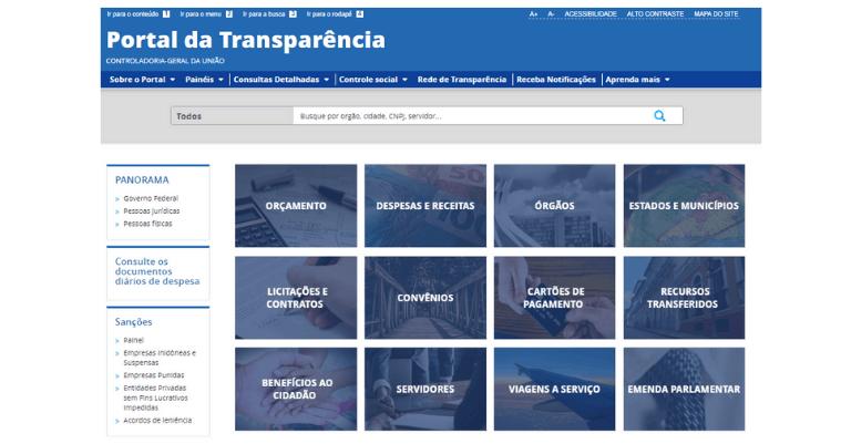 Auxílio emergencial: Portal da Transparência divulga nome de todos os beneficiados (Imagem: Reprodução - Google)