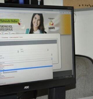 Escolas da rede estadual de Sergipe oferecem 20 mil vagas com matrículas online