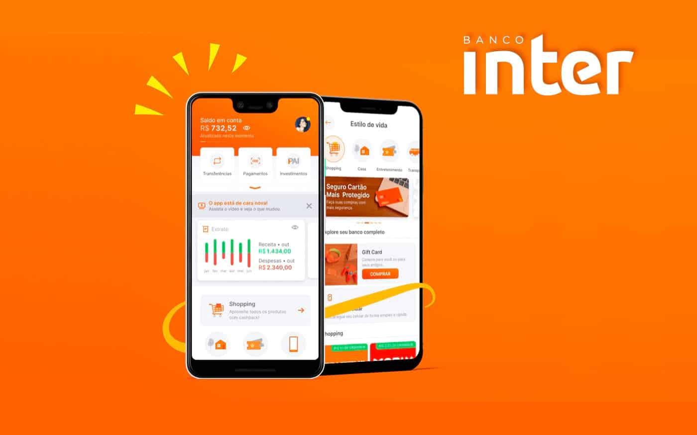 Banco Inter libera cashback para não correntistas em seu app e passa na frente da concorrente