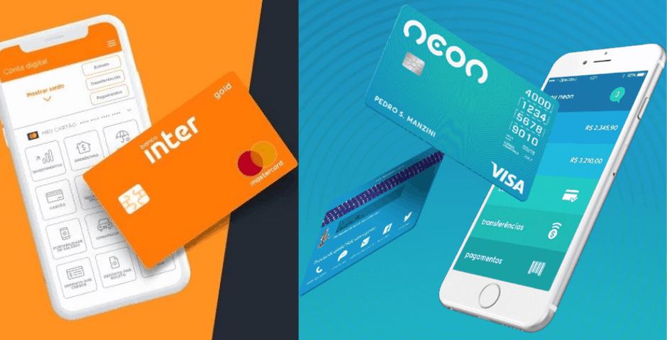 Comparativo: Qual é o melhor cartão de crédito: Neon ou Inter? Veja os diferenciais de cada um