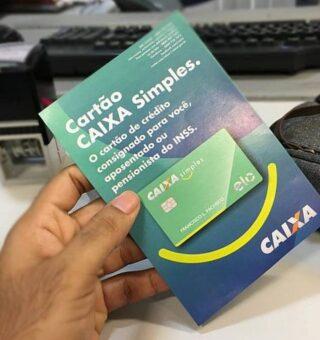 Cartão de crédito consignado Caixa Simples permitirá o limite de crédito de 160%