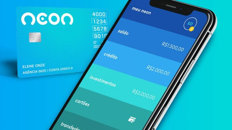 Neon oferece cartão de crédito online e sem anuidade para consumidores com score baixo