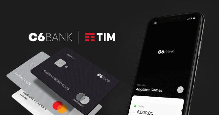Parceria entre o C6 Bank e operadora TIM trazem novos benefícios aos clientes