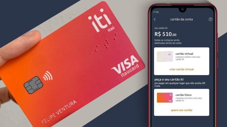 Itaú: Conta digital ITI passa a oferecer cartão físico e virtual grátis para os usuários