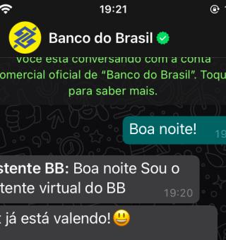 COMO vai funcionar o pagamento por Pix no WhastApp do Banco do Brasil?