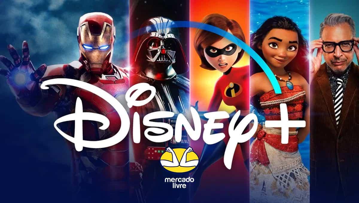 Mercado livre disponibiliza seis meses gratuitos do Disney+ para usuários da plataforma