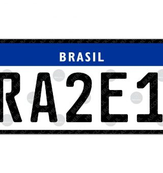 Confira o preço recomendado pelo Detran para adquirir a nova placa Mercosul em veículos