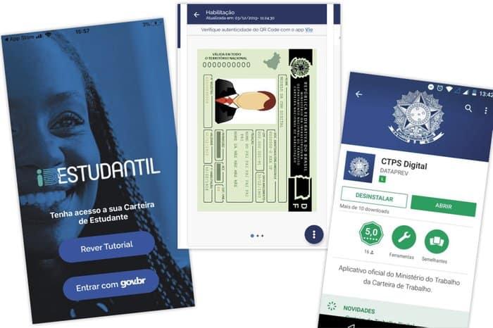 CNH, CRLV, CPF, Carteira de Trabalho e demais documentos que possuem versão digital