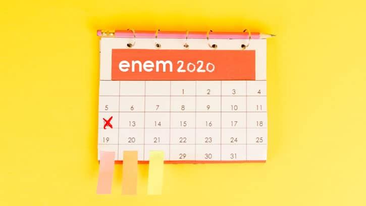 ENEM 2020 aplica prova a partir do próximo mês; confira calendário completo