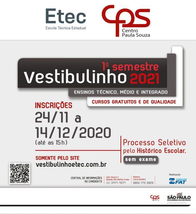 Calendário ETEC 2021: Todas as etapas do processo seletivo