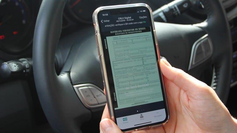 O CRLV Digital pode ser acessado pelo dispositivo móvel mesmo off-line