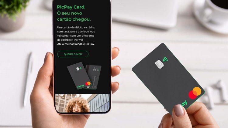 Cartão de crédito do PicPay libera cashback de 10% ao solicitar o produto