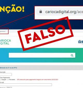 Site gera boleto falso para pagamento do IPTU no RJ; veja como se proteger do golpe