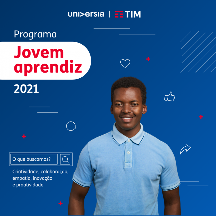 Último dia de inscrição no programa Jovem Aprendiz TIM 2021; participe