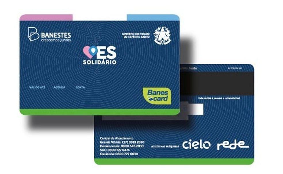 Cartão do ES Solidário será entregue dia 26; veja quem pode receber