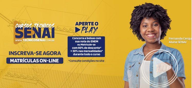 SENAI anuncia mais de 500 bolsas de estudo para cursos técnicos na Bahia