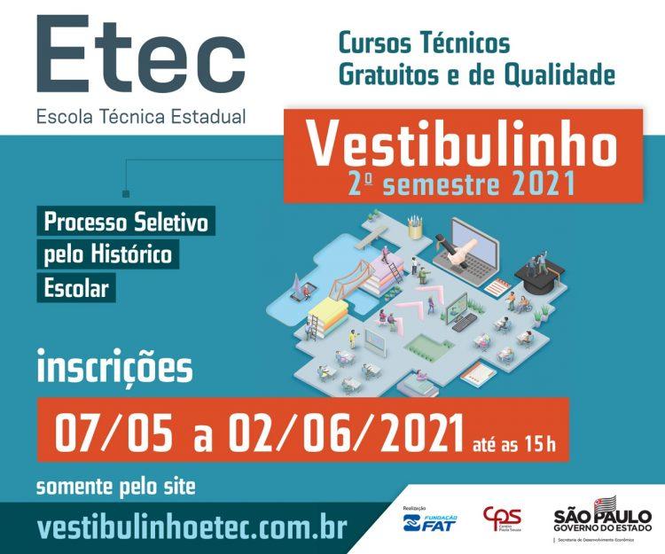 Vestibulinho ETEC abre inscrições com 45,9 mil vagas em todo estado de SP