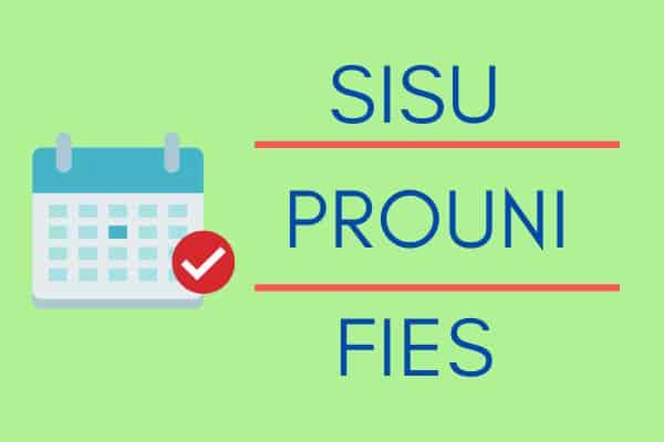 SISU, PROUNI e FIES ganham calendário para seletivas do 2º semestre