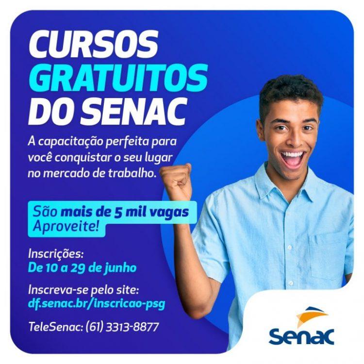 SENAC abre inscrições para 5,5 mil vagas em cursos gratuitos no DF