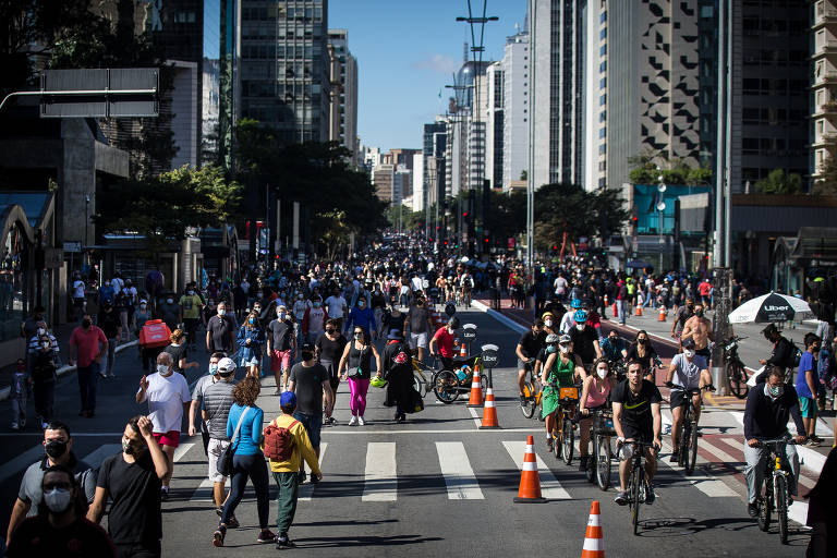 Prefeitura de SP teste volta de eventos com reabertura da Avenida Paulista dia 25 (Imagem: Reprodução Folha de SP)