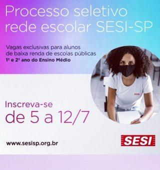 SESI encerra inscrições para bolsistas nas escolas de SP nesta segunda (12)