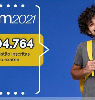 Inscritos no ENEM 2021 tem menor número desde a edição de 2009