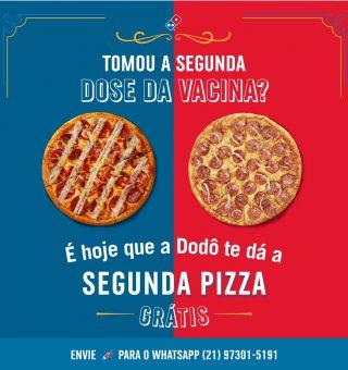 Domino's vai dar pizza grátis para brasileiros que tomarem vacina contra COVID-19