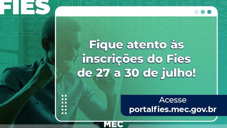 Inscrições on-line abertas para participar da seleção do FIES 2021.2