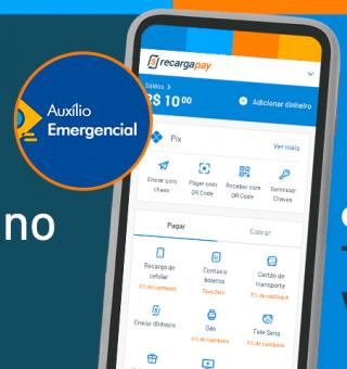 Antecipação de saque do auxílio emergencial pode ser feito com o Recarga Pay