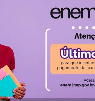 Último dia para pagar taxa de inscrição no ENEM 2021; emita seu boleto