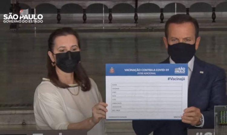 Doria ultrapassa Ministério da Saúde e anuncia 3ª dose da vacina para 6 de setembro
