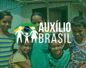 Imagem com logotipo alternativo do novo programa do governo federal, o Auxílio Brasil