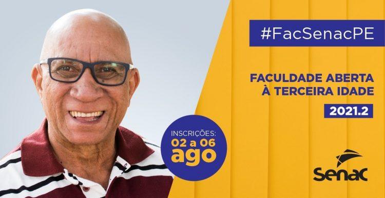 Faculdade SENAC abre bolsas de estudos para terceira idade em Pernambuco