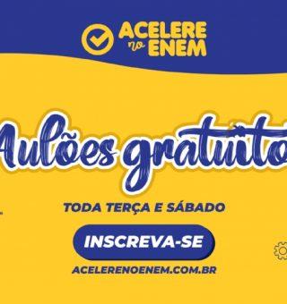 Acelere no ENEM cria inscrições em cursinho gratuito para todo Brasil