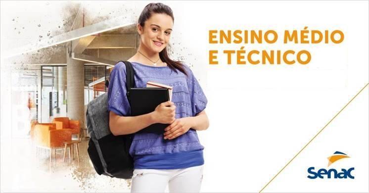 SENAC anuncia oferta maior de vagas para ensino médio técnico