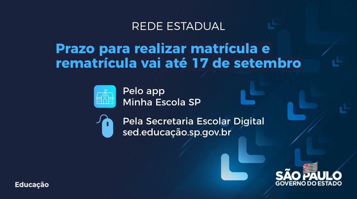 Última semana para matrícula escolar on-line no estado de São Paulo