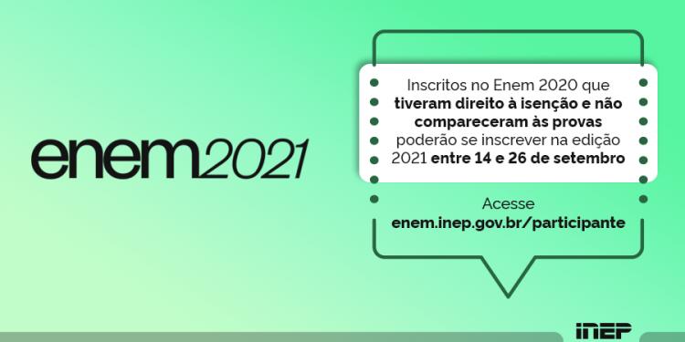 Novo calendário do ENEM 2021 é divulgado para os recém inscritos