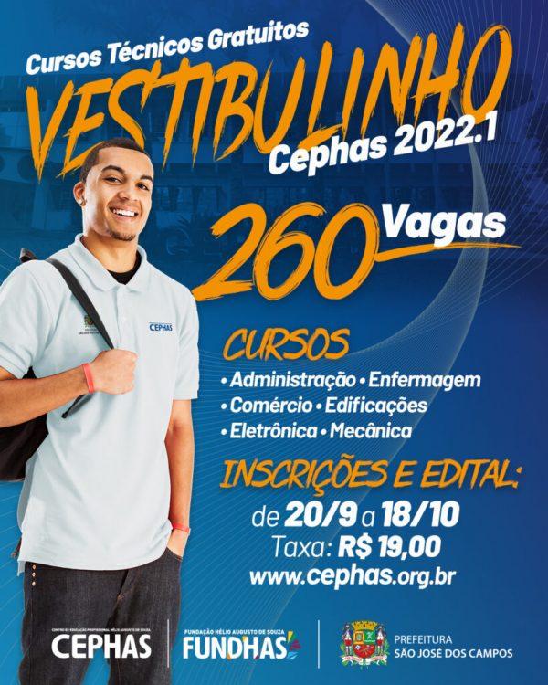 Cephas abre inscrições para cursos técnicos gratuitos em São José dos Campos