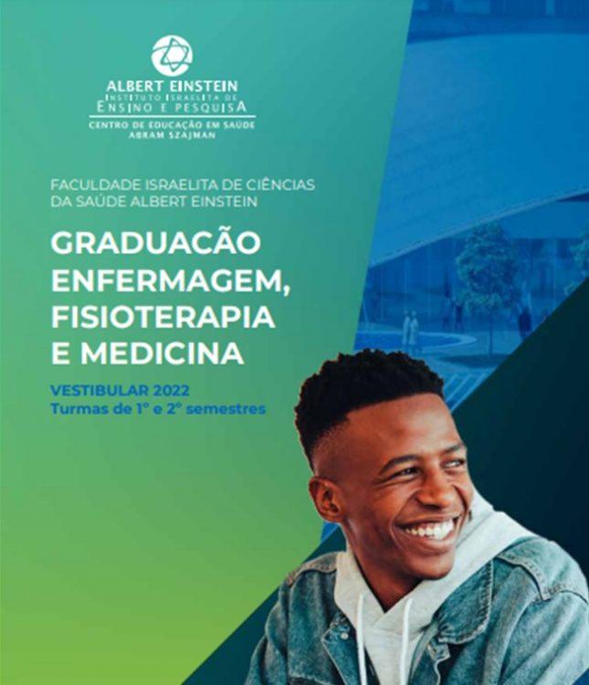 Vestibular 2022 com inscrições abertas na Faculdade Albert Einstein