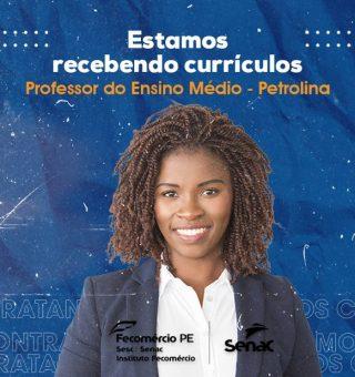 SENAC abre inscrições para contratar professores na unidade de Petrolina