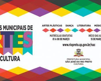 São José do Rio Preto tem 1,5 mil vagas em cursos gratuitos de artes e cultura