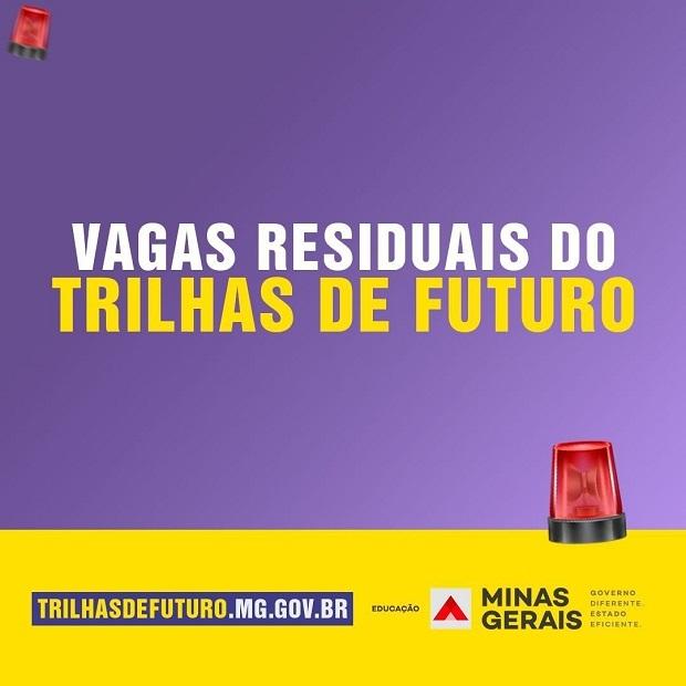 Inscrições para vagas residuais cursos técnicos gratuitos do Trilhas de Futuro começam hoje (6)